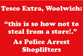 SHOPLIFTERS ARREST AT TESCO EXTRA: