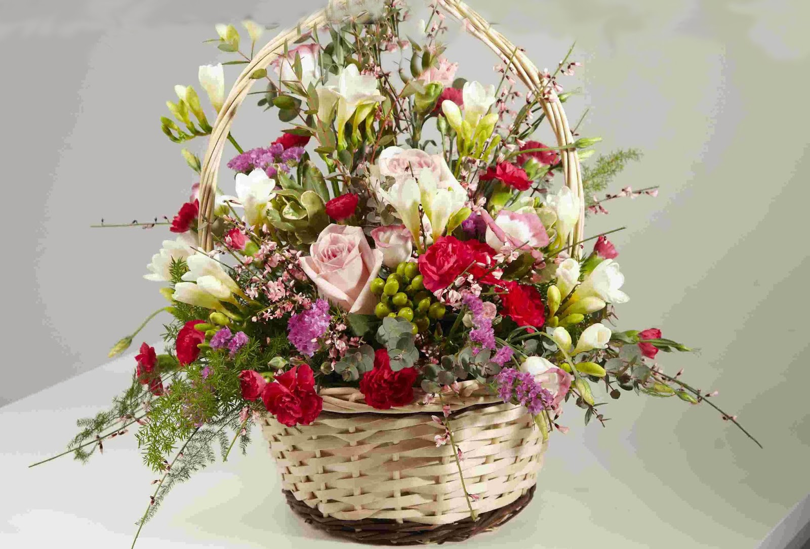 Images Of Flower Baskets : Flowers baskets hd wallpapers free download unique