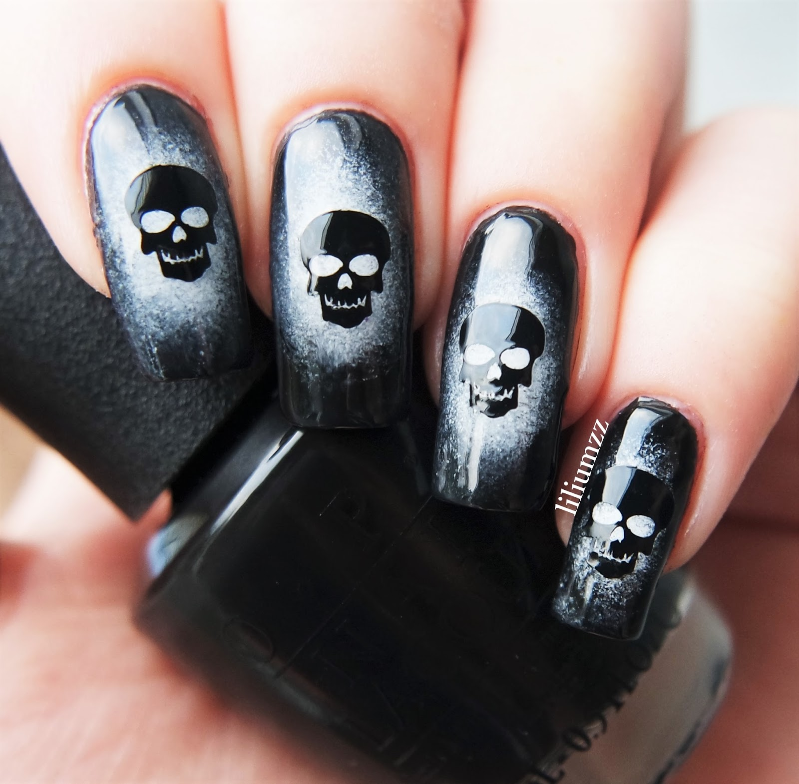 Skeleton Nail Design
