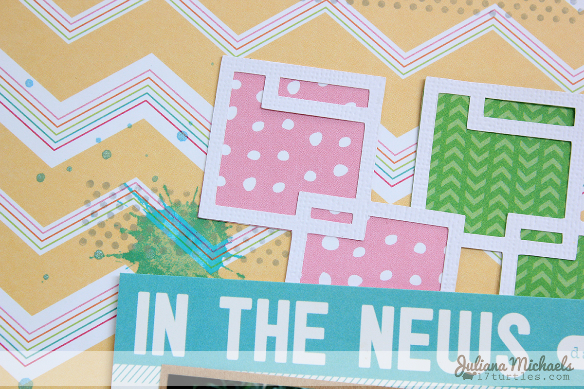 Adventure Is Out There Scrapbook Page by Juliana Michaels #ellesstudio