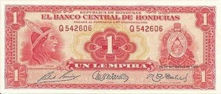 Billete hondureño