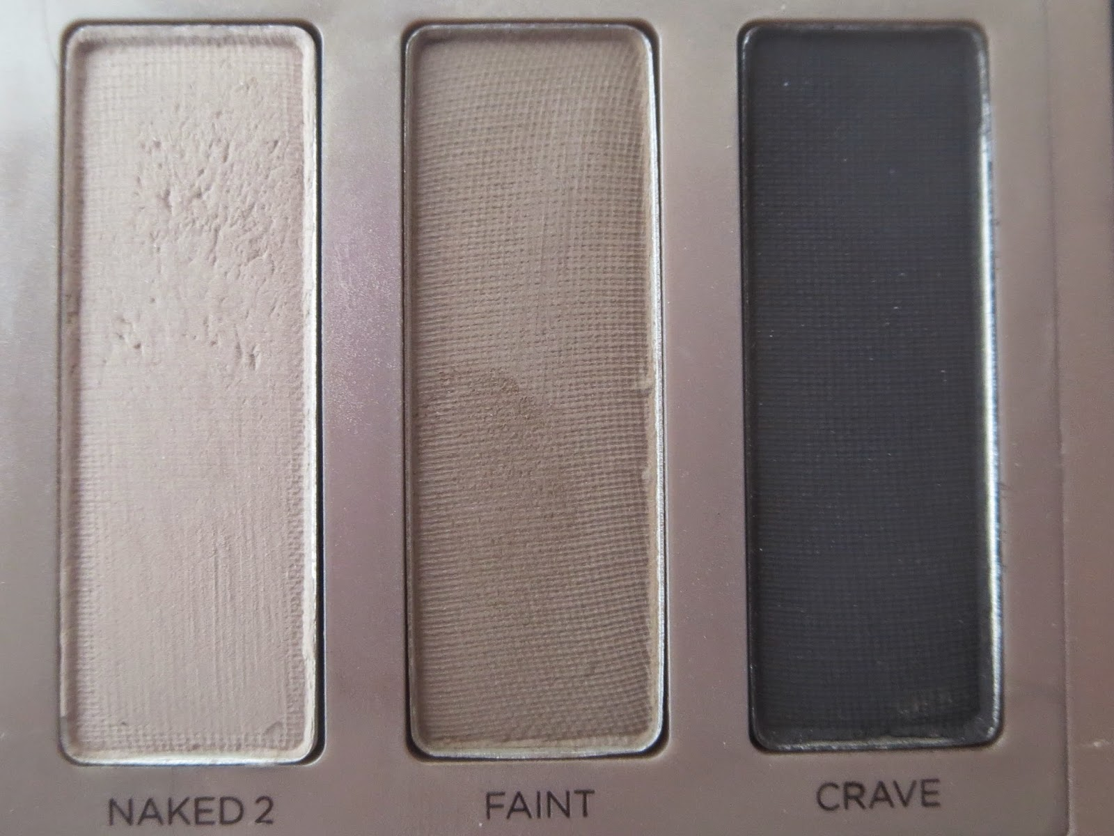 a picture of Urban Decay Naked Basics ; Naked 2, Faint, Crave
