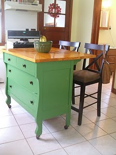 What A Pretty Dresser To Kitchen Island Upcycle!