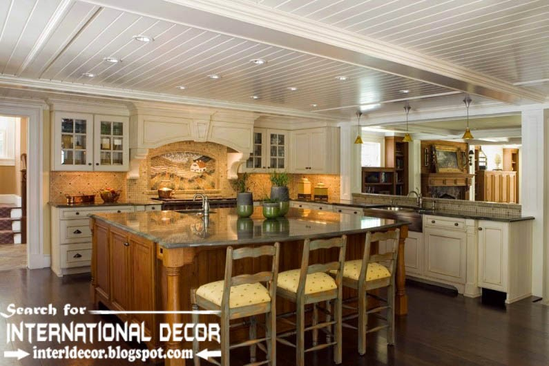 Largest album of modern kitchen ceiling designs ideas tiles for Ceiling ideas kitchen