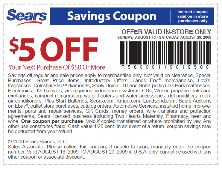Want to find all the current Sears coupons, coupon codes, and promo codes for name-brand appliances, tools, and more? Then check this page out, grab a Sears coupon, and start saving!