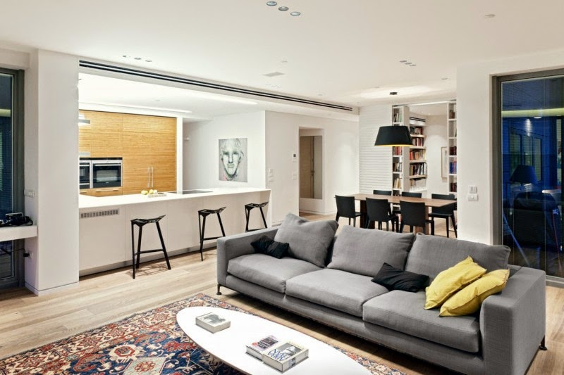 Design Kitchen Living Room Comfortable And Modern Part 1