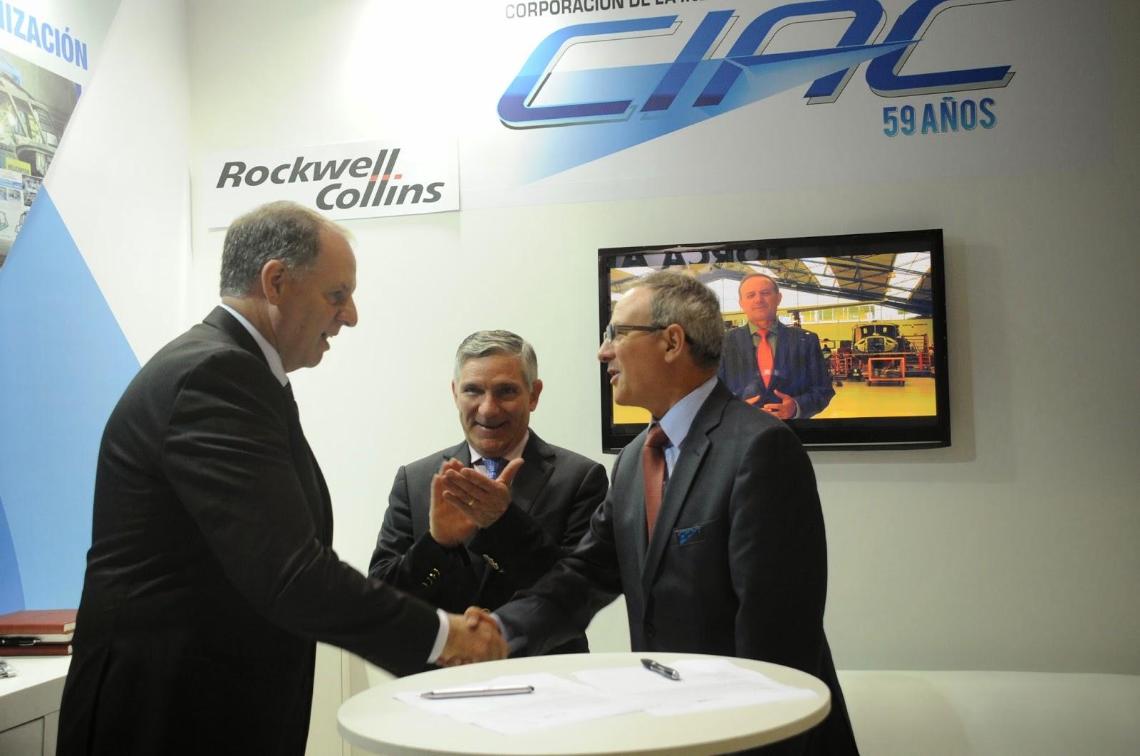 a Corporación de la Industria Aeronáutica Colombiana (CIAC) y la compañía estadounidense Rockwell Collins firmaron un acuerdo para la reparación y mantenimiento de los sistemas de aviónica de las Fuerzas Armadas y de la Policía de Colombia.