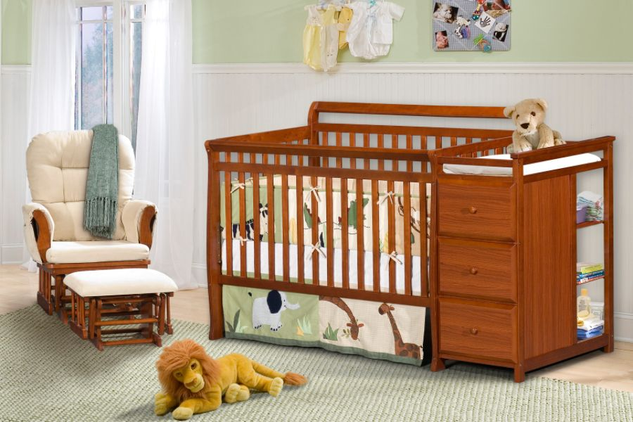 Baby Bed With Changing Table Attached