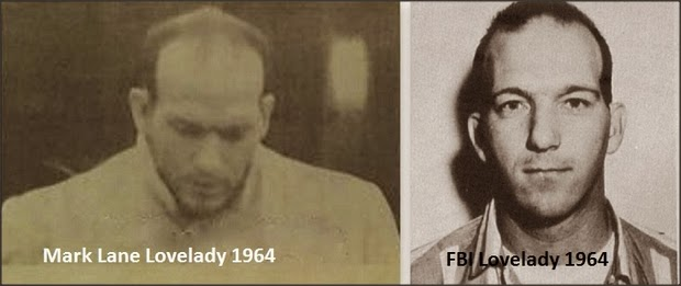 Comparison of the 1964 images of Billy Lovelady by Mark Lane and the FBI