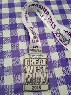 Exeter Great West Run 2015 medal