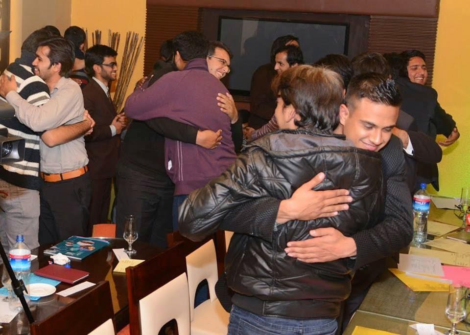Hugs, hugs everywhere!