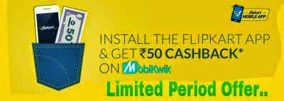 Flipkart Mobikwik Offer: Download The App And Get Rs 50 Free Cashback Coupon