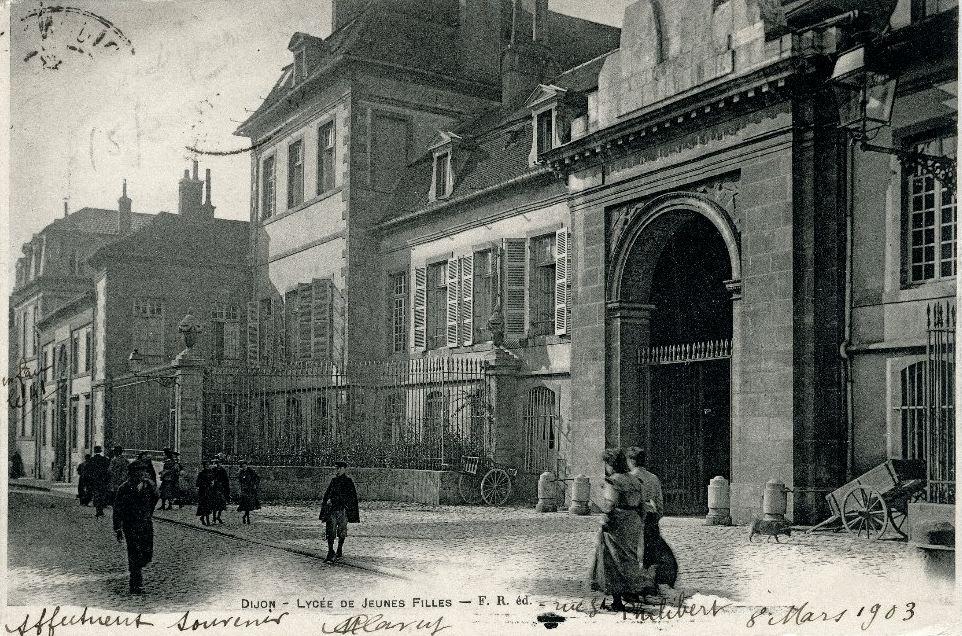 Dijon en 1900 la rue condorcet le lyc e de jeunes filles for Rue des garcons