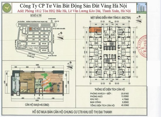 Chung cư Đại Thanh Ct8 45,53m2