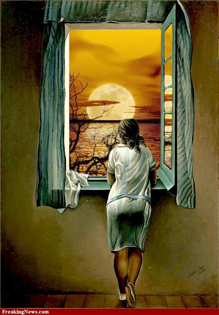 """looking out through the window Dirty laundry """"our very business  the wife looked out the window,  and so it is with life—what we see when watching others depends on the window through."""