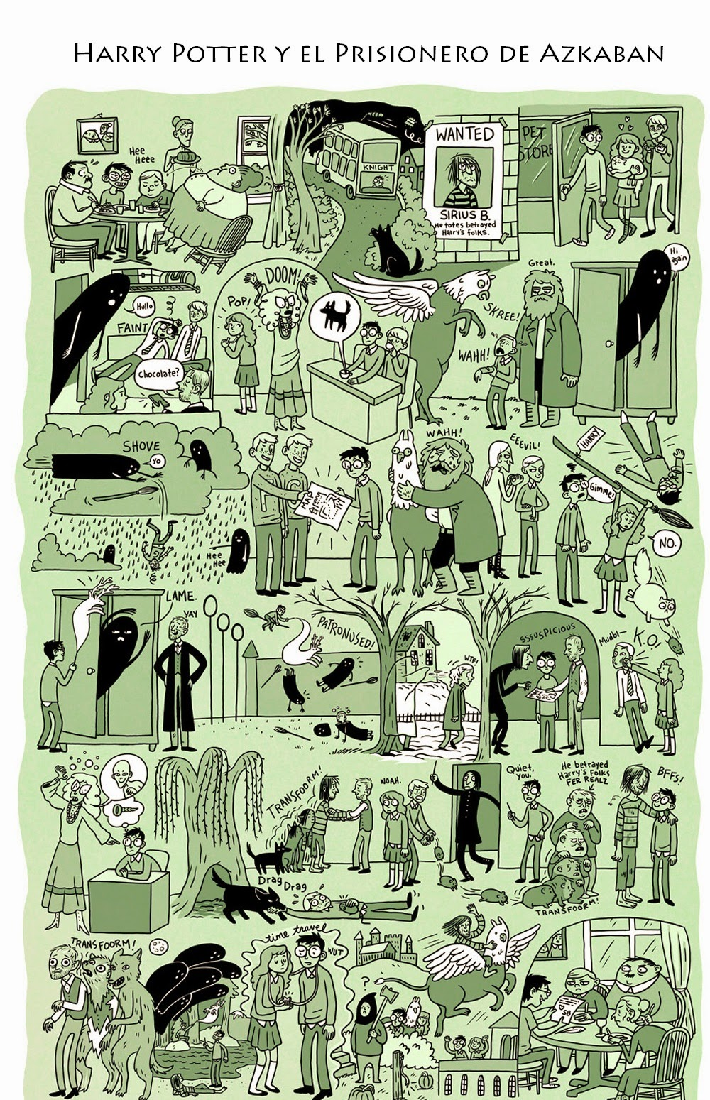 viñeta resumen - Harry Potter y el prisionero de Azkaban