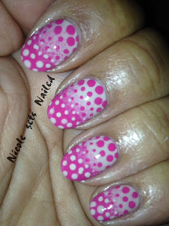 Nude and Pink Gradient with Polka Dots