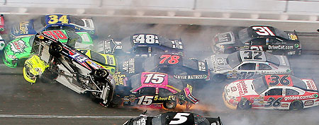 Terrifying Wreck Tarnishes NASCAR Race