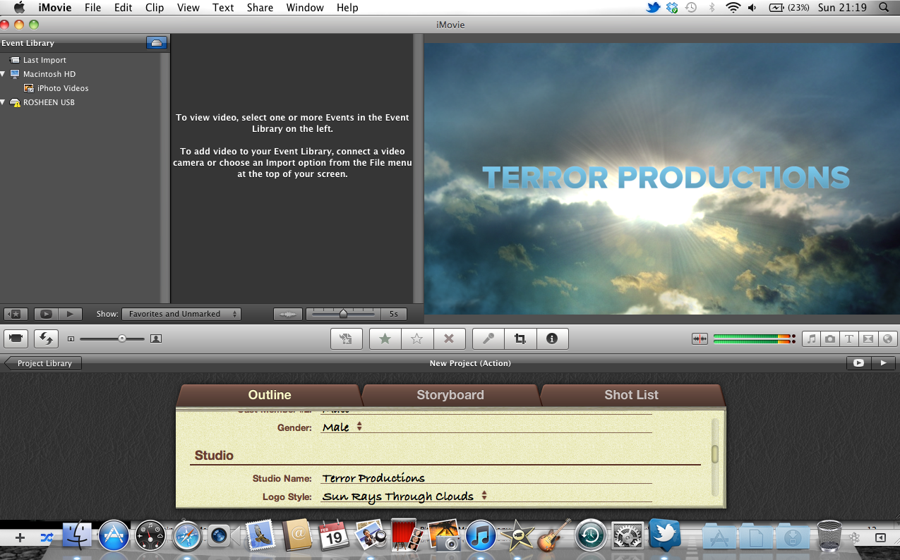 how to move a title in imovie