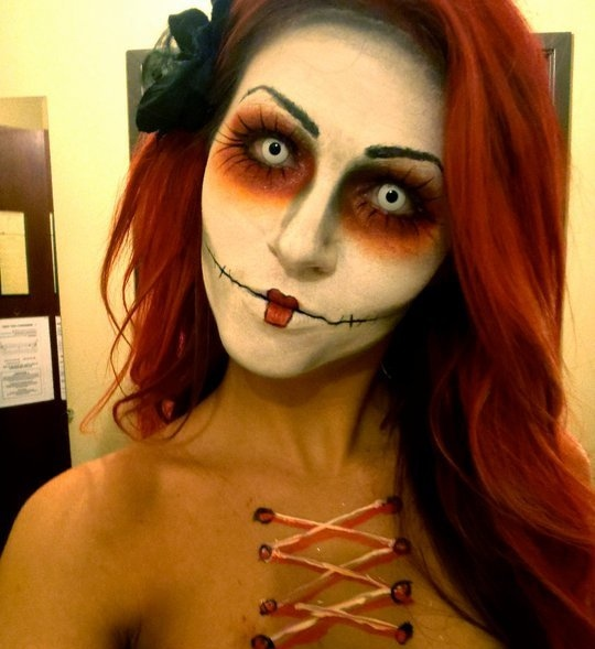 House2HomeMarriedLife: Scary Halloween make up - Make Up Tutorial Halloween