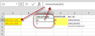 VBA: Una función para extraer caracteres de texto de un valor alfanumérico.