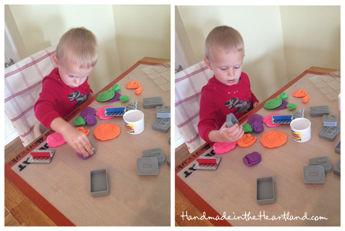 play dough with kids
