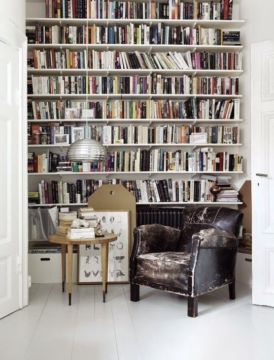 Lovely Storing Books In Small Spaces Part - 4: If You Can Drill Into Your Wall.