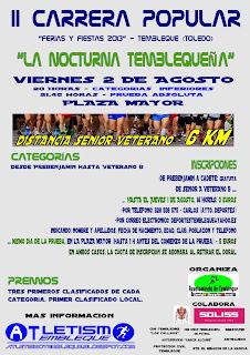 """LLEGA LA II CARRERA POPULAR """"FERIAS Y FIESTAS 2013"""" TEMBLEQUE (TOLEDO)"""