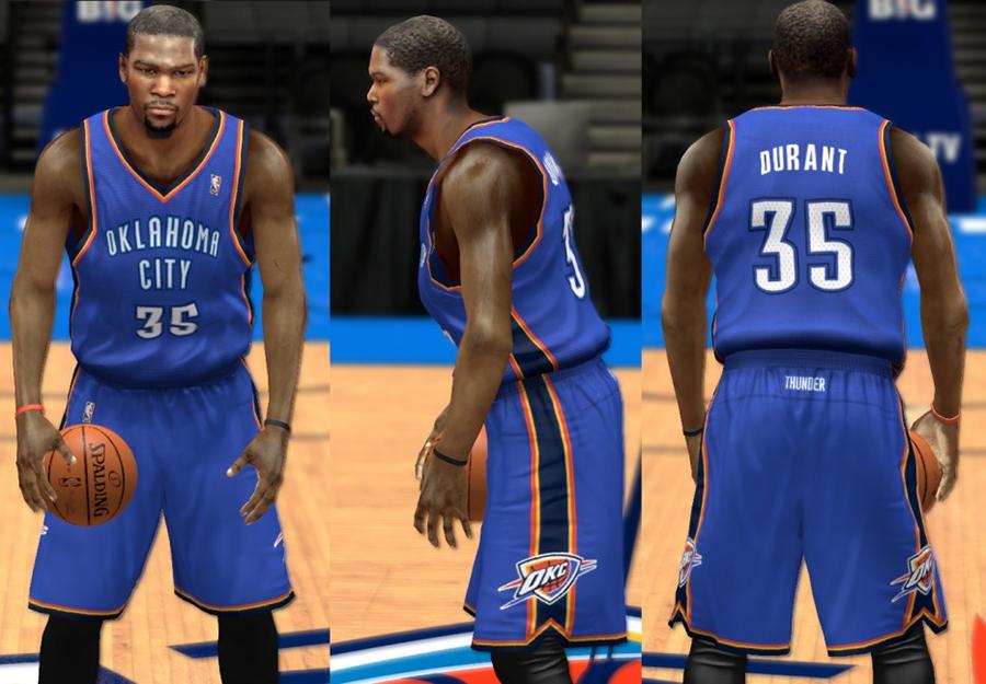 NBA 2K14 OKC Thunder Jersey Pack Mod