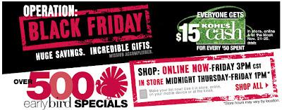 Kohl's Best Black Friday Deals 2012
