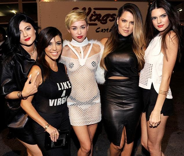 Miley Cyrus' with the Kardashians