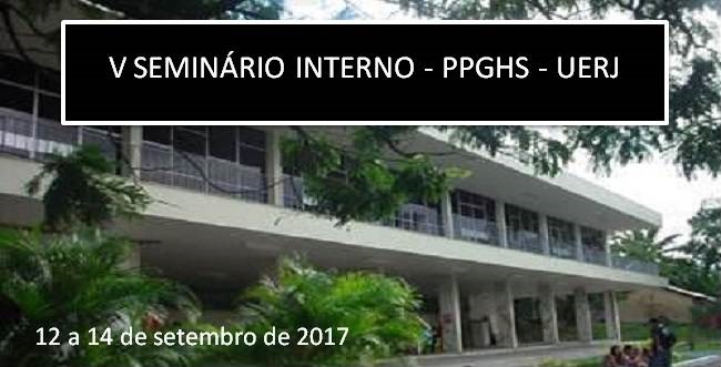 V Seminário Interno do PPGHS 2017
