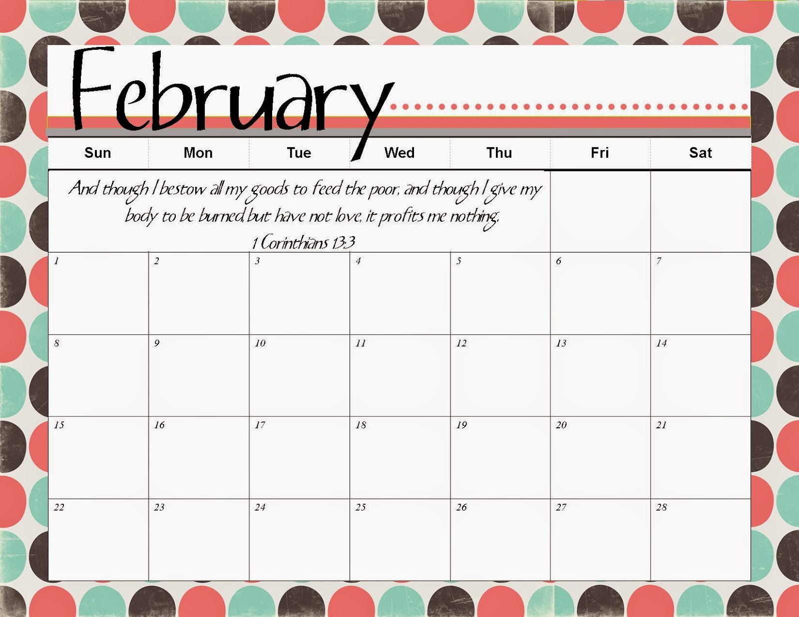 2015 Printable Calendar 8 X 10/page/2 | New Calendar Template Site ...