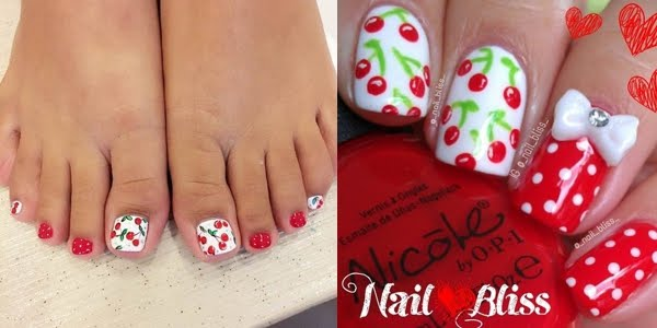 Sweet Like Cherry Playful And Trendy Nail Designs