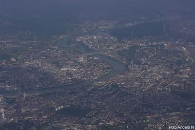 basel, aerial view, photo, flygfoto, bâle, från flygplan, from aeroplane