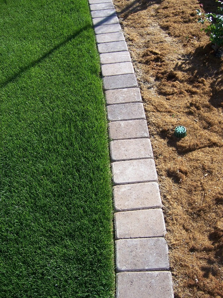 The 2 Minute Gardener Photo Paver Mow Strip