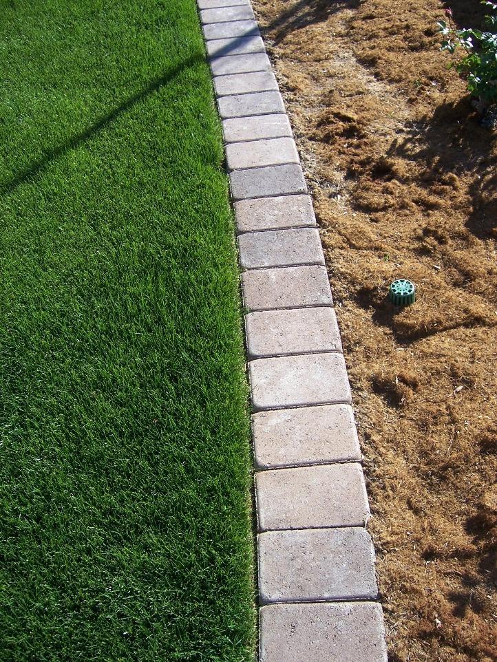 The 2 minute gardener photo paver mow strip - Landscaping bricks for edging ...