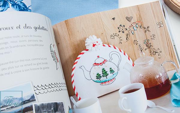 грелка на чайник, вышивка французский дизайн, вышивка грелка