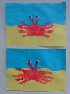 krab met wiebelogen