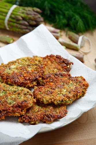 Asparagus Quinoa Cakes