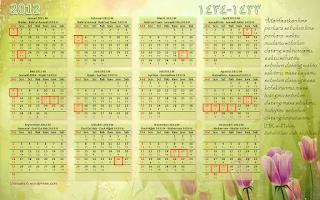 kalender 2012 Hijriyah