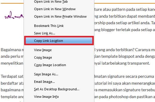 Cara Dapatkan URL Gambar