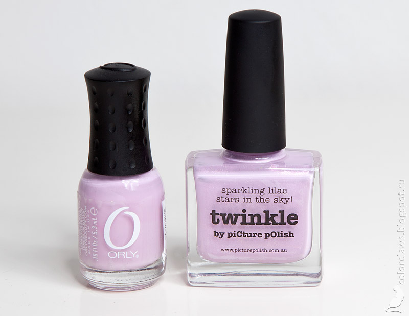 Picture Polish Twinkle vs. Orly Lollipop