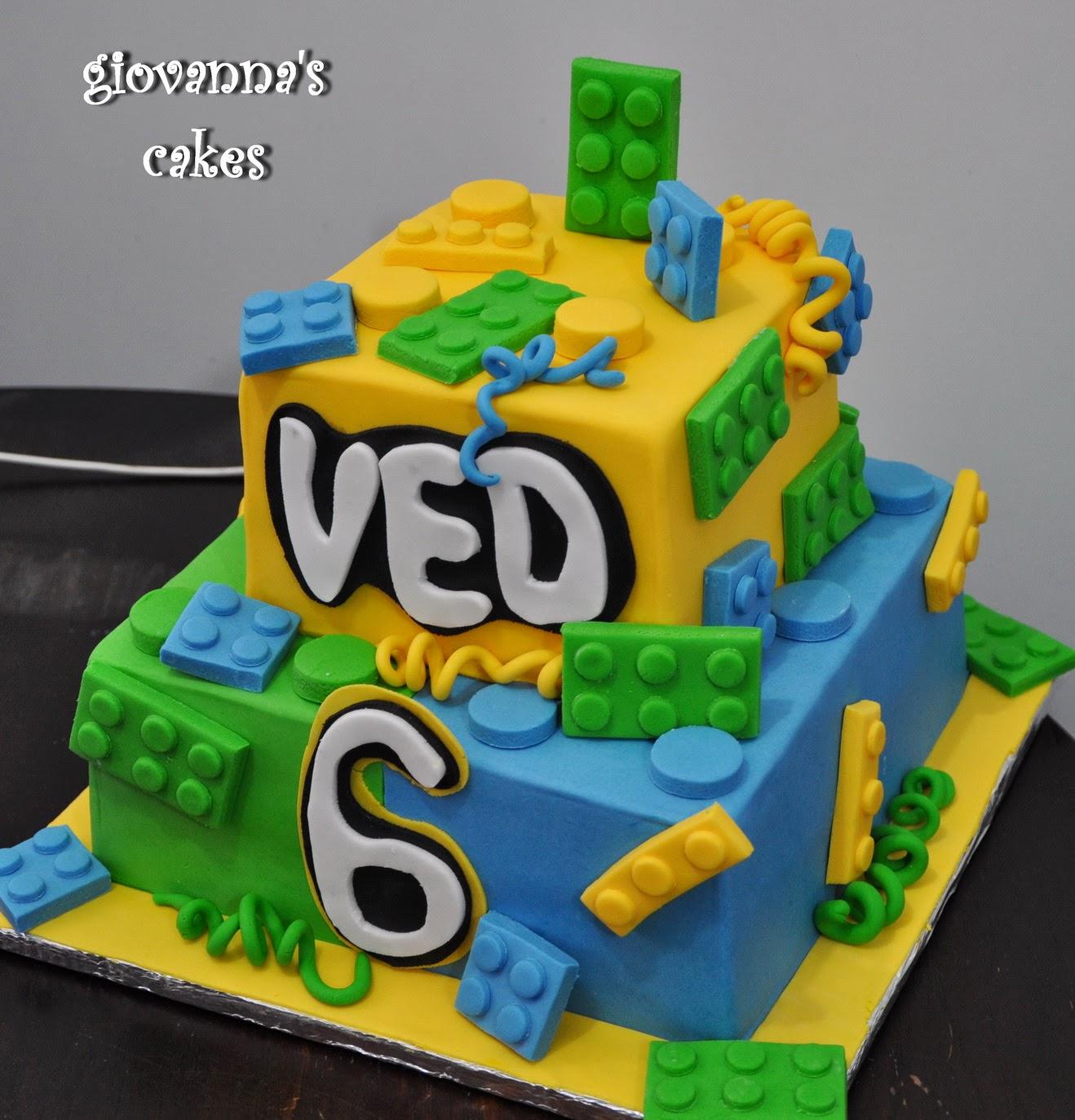 Veds Lego Themed Birthday Cake