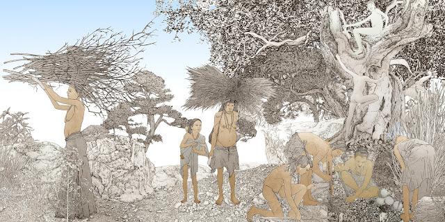 prueba color, mujeres prehistoria