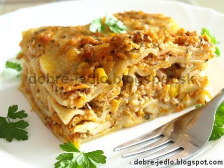 Mäsovo-zeleninové lasagne - recepty