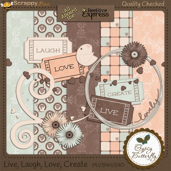 Free scrapbook august blog train from Gypsy Butterfly