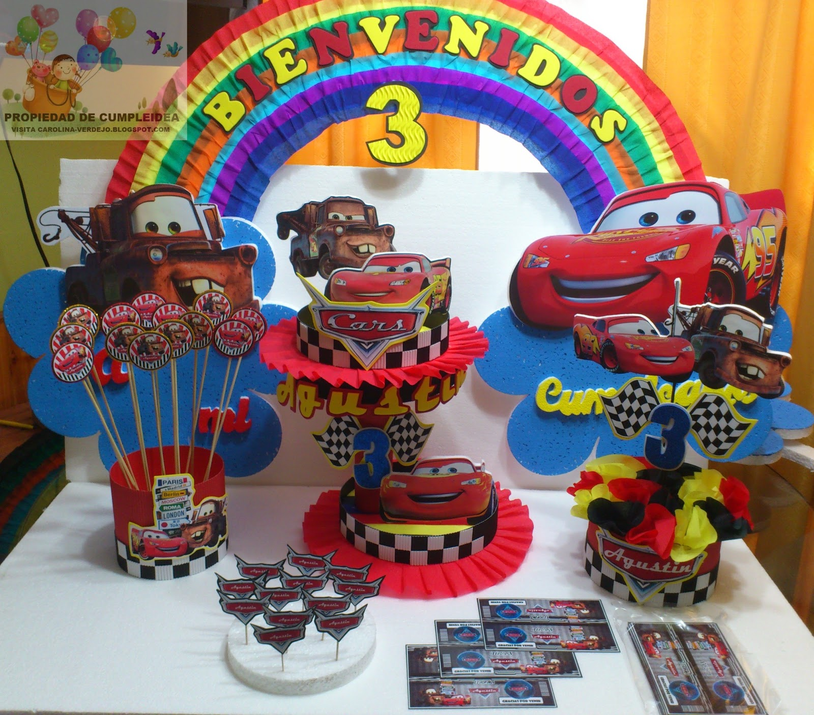 Decoraciones infantiles cars for Imagenes de decoracion de fiestas infantiles