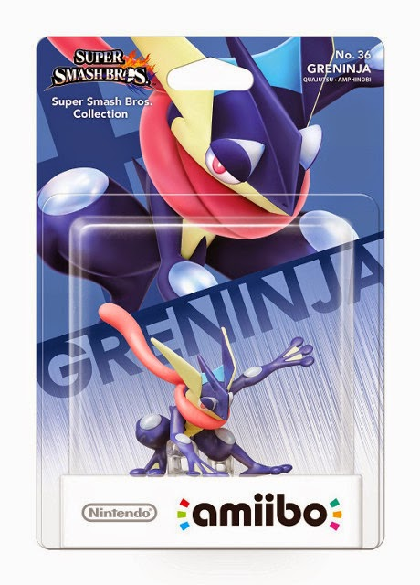 JUGUETES - NINTENDO Amiibo - 36 : Figura Greninja : Pokemon  (29 Mayo 2015) | Videojuegos | Muñeco | Super Smash Bros Collection  Plataforma : Wii U & Nintendo 3DS