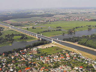 River Over River In Germany, Canal On Reiver